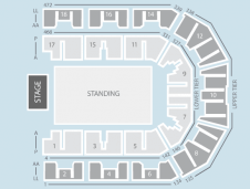 Standing Seating Plan at Liverpool Echo Arena