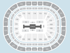 Centre stage Seating Plan at Manchester Arena