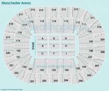 Detailed Seating Plan at Manchester Arena