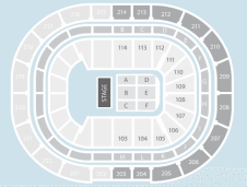 Half hall Seating Plan at Manchester Arena