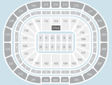 Side stage Seating Plan at Manchester Arena