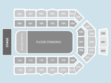 Gold circle Seating Plan at Metro Radio Arena