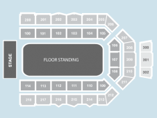 Standing Seating Plan at Metro Radio Arena