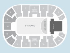 Gold circle Seating Plan at Motorpoint Arena Nottingham
