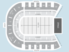 Seated Seating Plan at Odyssey Arena