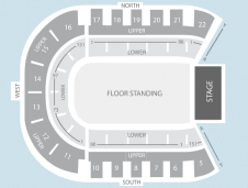 Standing Seating Plan at Odyssey Arena
