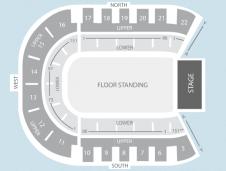 Standing Seating Plan at Odyssey Arena