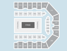 Centre stage Seating Plan at FlyDSA Arena (Sheffield Arena)