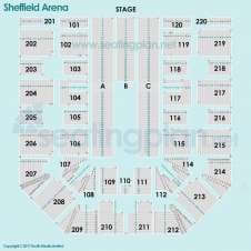 Detailed Seating Plan at FlyDSA Arena (Sheffield Arena)