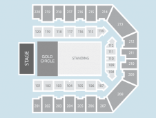 Gold circle Seating Plan at FlyDSA Arena (Sheffield Arena)