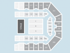 Half hall Seating Plan at Sheffield Arena