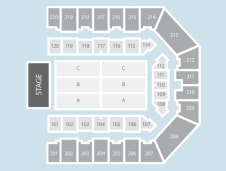 Seated Seating Plan at Sheffield Arena