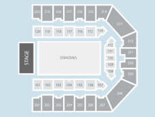 Standing Seating Plan at Sheffield Arena