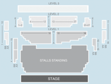 Standing Seating Plan at Shepherds Bush Empire