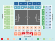 Football Seating Plan at Stade Bollaert-Delelis