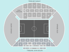 Football Seating Plan at Stade Vélodrome