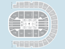 Basketball Seating Plan at The O2 Arena