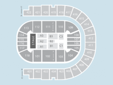 End stage Seating Plan at The O2 Arena