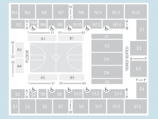 Basketball Seating Plan at SSE Arena Wembley