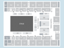 Ice Seating Plan at SSE Arena Wembley
