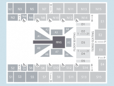 Wrestling Seating Plan at SSE Arena Wembley