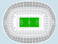 Football Seating Plan at Wembley Stadium