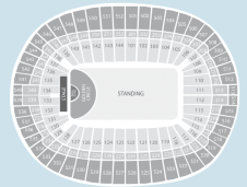 Gold circle Seating Plan at Wembley Stadium