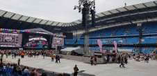 View of Spice Girls from Seat Block at Etihad Stadium Manchester
