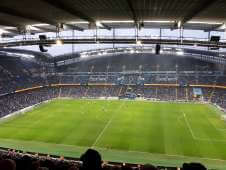 View of 3rd round F.A Cup from Seat Block at Etihad Stadium Manchester