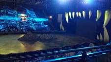 View of Walking with Dinosaurs  from Seat Block at FlyDSA Arena (Sheffield Arena)