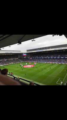 View of Rangers v Celtic from Seat Block CD2 at Ibrox Stadium
