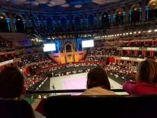 View of Tennis from Seat Block T at Royal Albert Hall