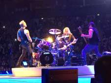 View of Metallica from Seat Block STANDING at The O2 Arena