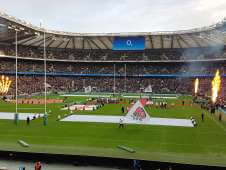 View of Eng v Arg from Seat Block L13 at Twickenham Stadium