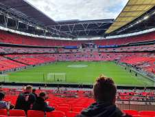 View of FA community shield  from Seat Block at Wembley Stadium