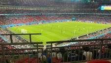 View of Euro 2020 - Italy v Spain from Seat Block at Wembley Stadium