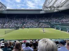 View of Ladies singles 3rd round from Seat Block at Wimbledon - Centre Court