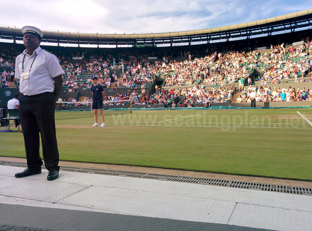 View from Seat Block 26 at Wimbledon - No.1 Court