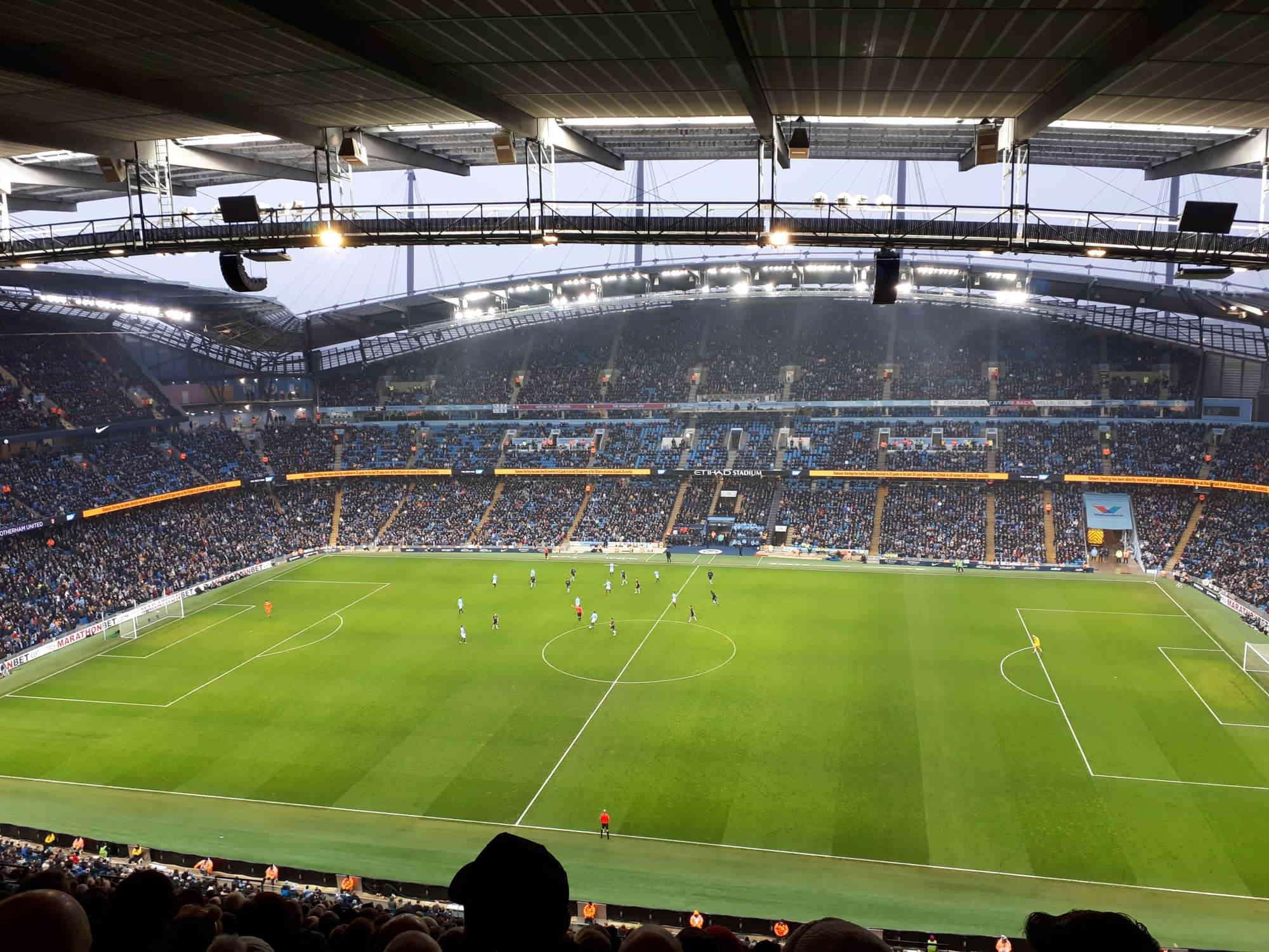 View from Seat Block 304 at Etihad Stadium Manchester