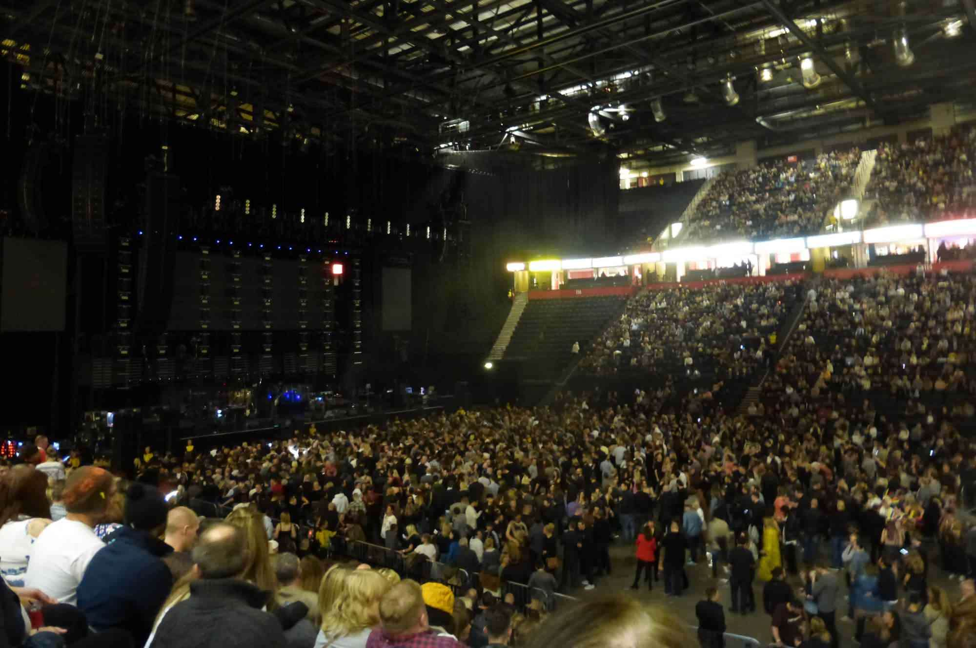 View from Seat Block 104 at Manchester Arena