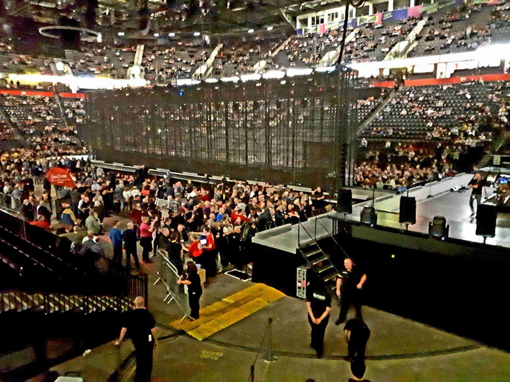 View from Seat Block 117 at Manchester Arena
