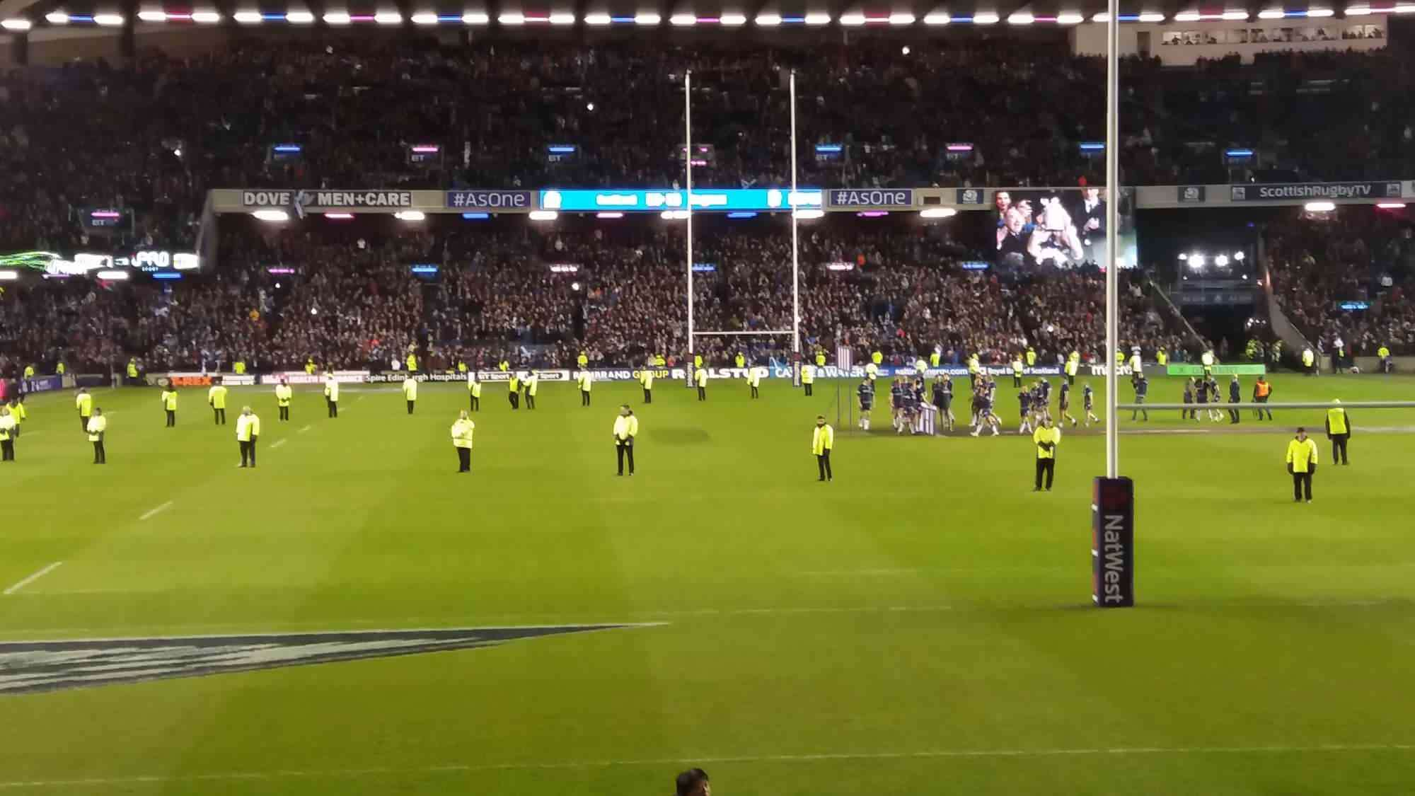 View from Seat Block N9 at Murrayfield