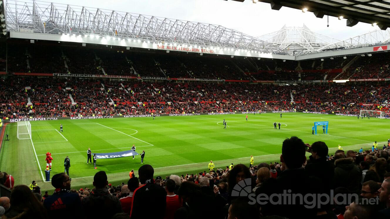 View from Seat Block STH121 at Old Trafford