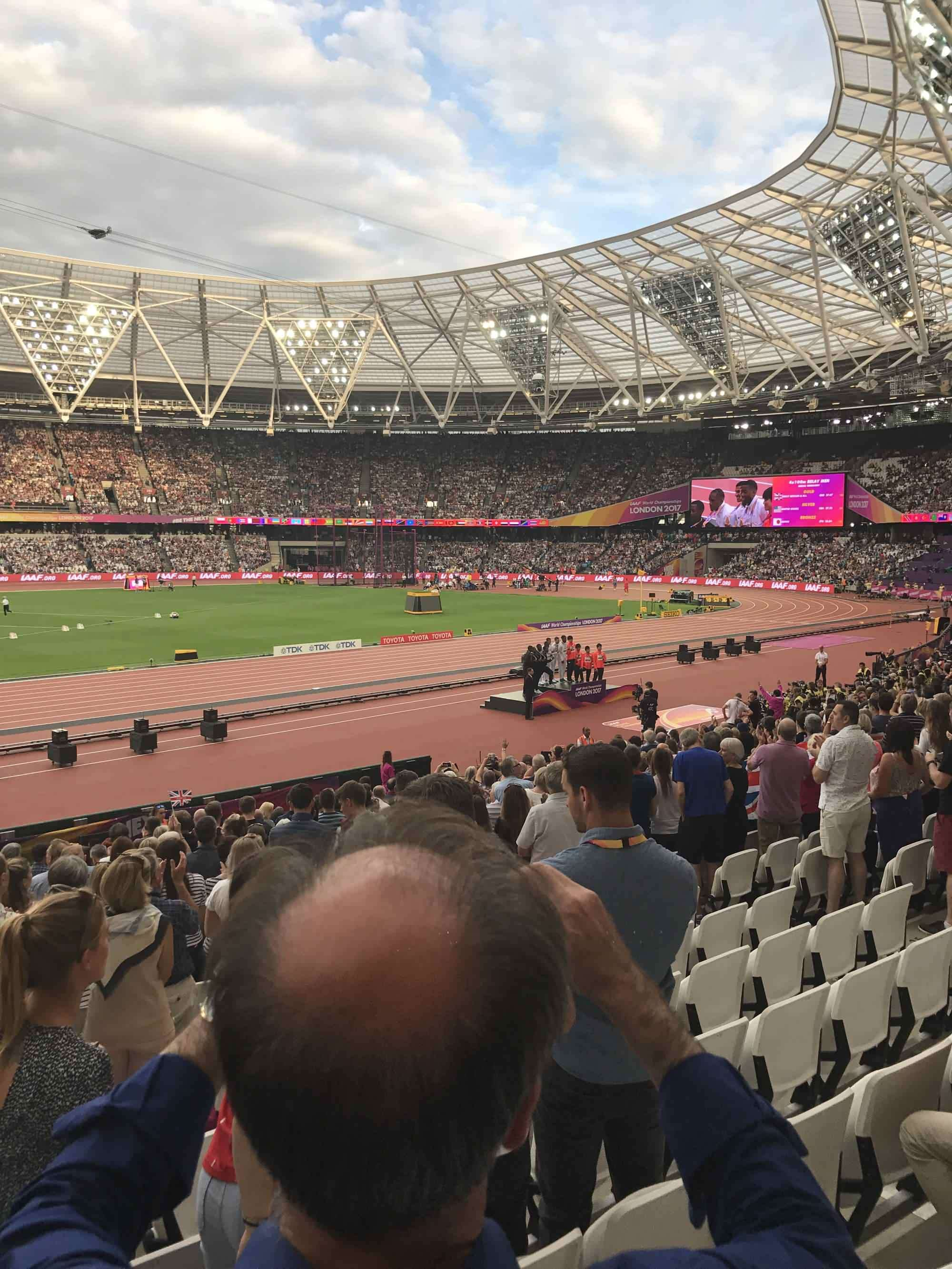 View from Seat Block 105 at Queen Elizabeth Olympic Park