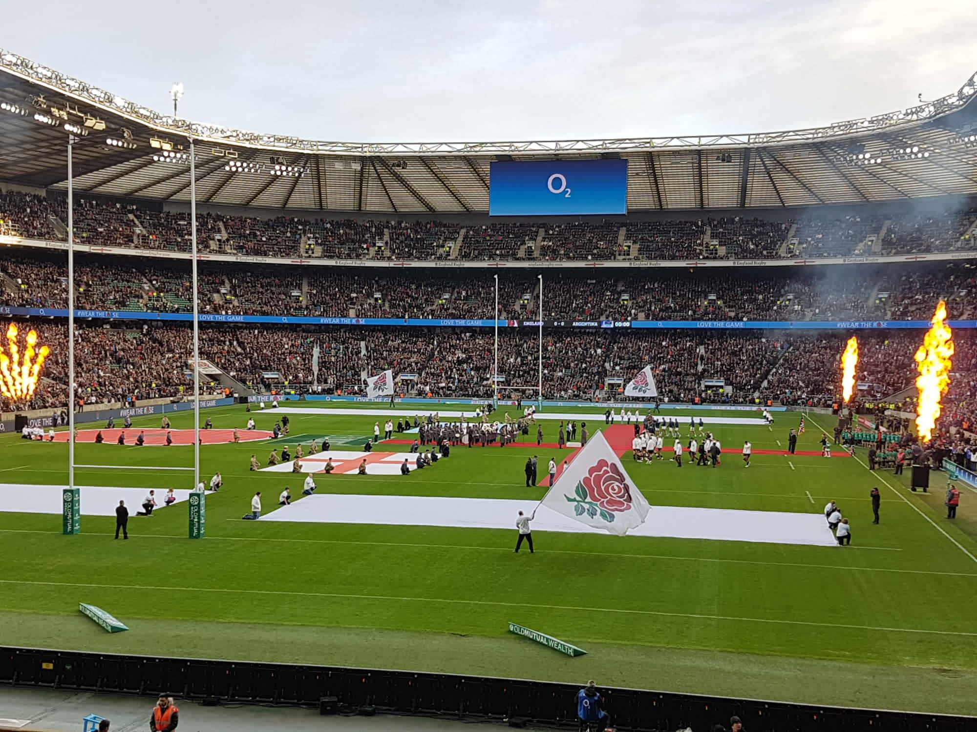 View from Seat Block L13 at Twickenham Stadium