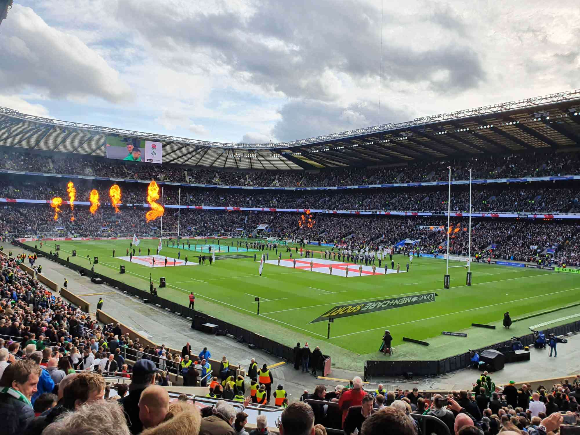 View from Seat Block L19 at Twickenham Stadium