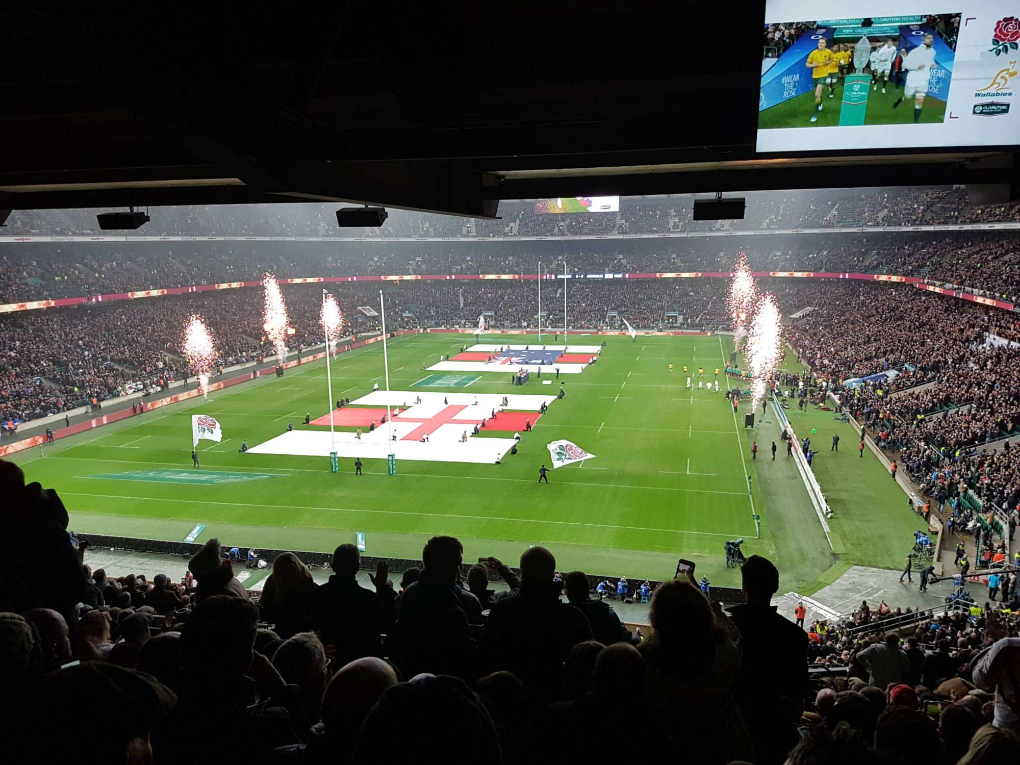 View from Seat Block M18 at Twickenham Stadium