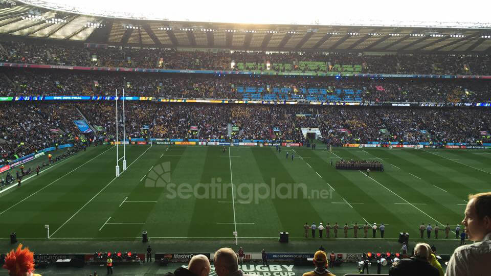 View from Seat Block M35 at Twickenham Stadium