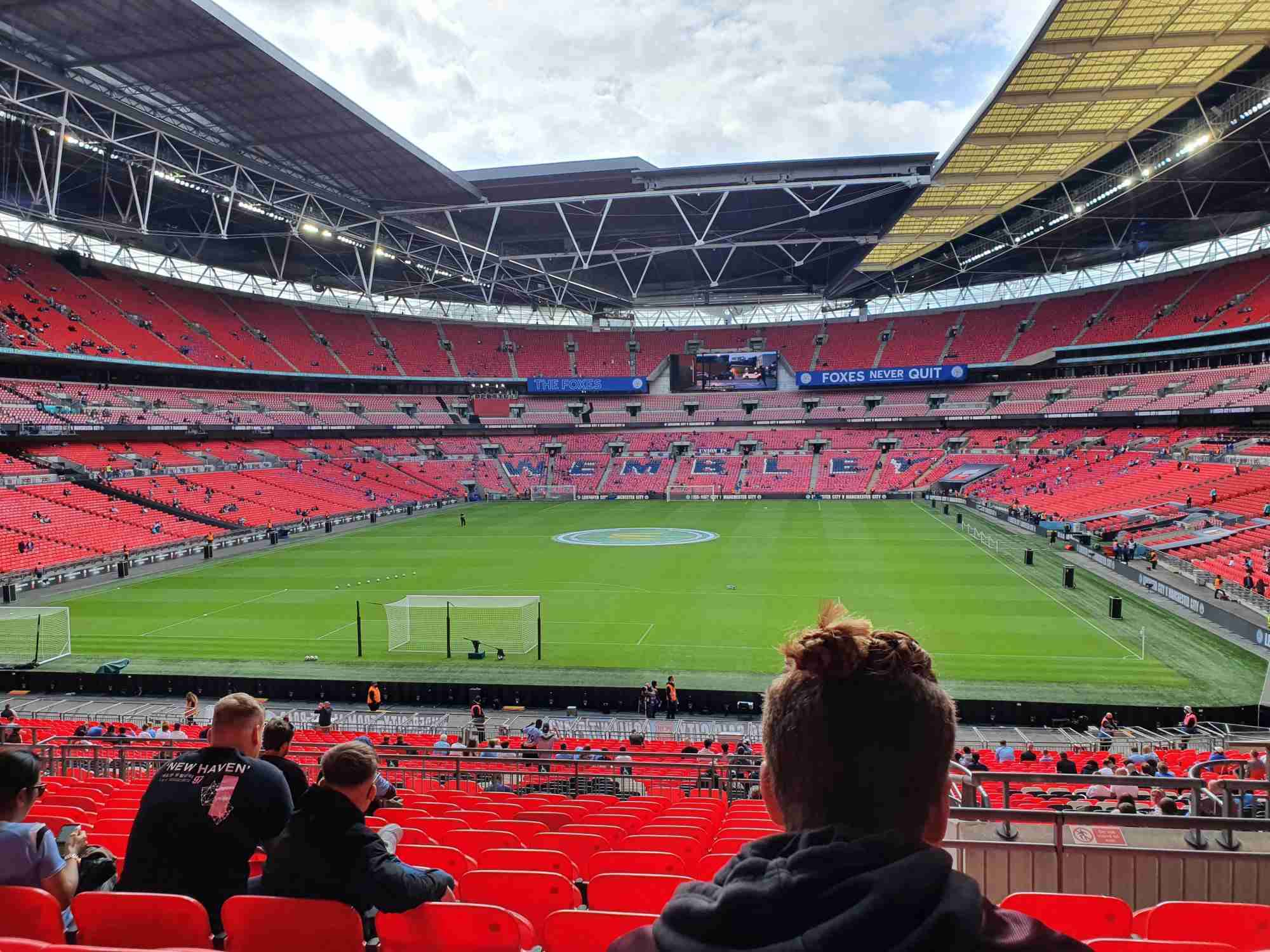 View from Seat Block 110 at Wembley Stadium