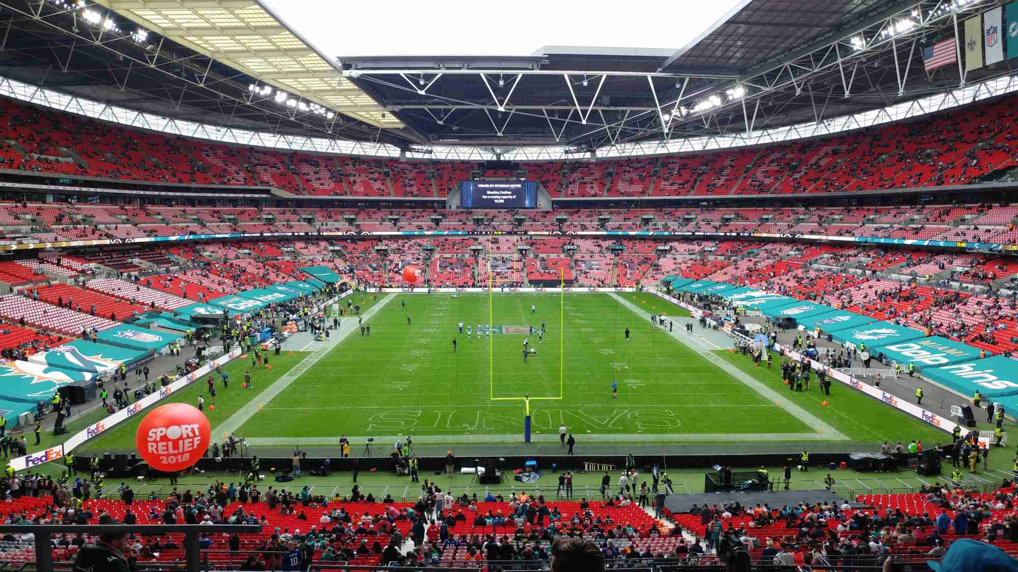 View from Seat Block 240 at Wembley Stadium